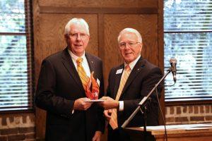 Ralph Heath Receiving Award from Chancellor